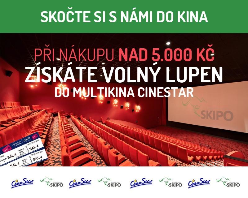 Při nákupu nad 5000 Kč získáte volný lupen do multikina Cinestar